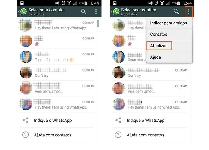 Visualize a lista de contatos que já podem receber chamadas no WhatsApp (Foto: Reprodução/Barbara Mannara)