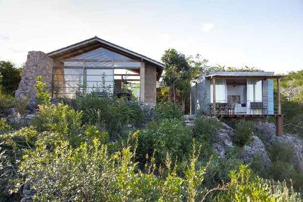 Arcos contornam casa de campo na Chapada Diamantina (Foto: Divulgação)