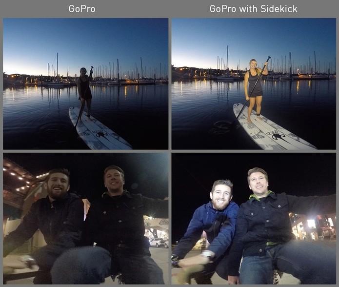 Compare as fotos com e sem a lanterna (Foto: Divulgação/Kickstarter)