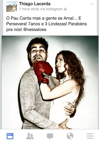 Thiago Lacerda se declara a Vanessa Loes (Foto: Instagram / Reprodução)