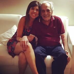 Luly Barbalho com o pai, Lúcio Mauro (Foto: Arquivo pessoal)