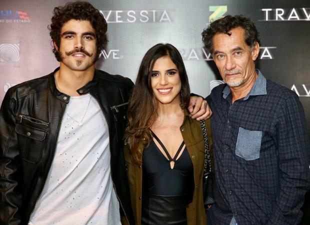 Caio Castro, Camilla Camargo e Chico Diaz (Foto: Manuela Scarpa/Brazil News)
