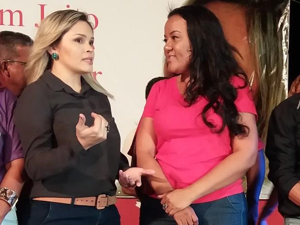 Dayanne Lima e Dora Nascimento vão concorrer à prefeitura de Macapá (Foto: John Pacheco/G1)