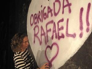 Homenagem a Rafael  Mascarenhas - Cissa Guimarães (Foto: Rodrigo Vianna / G1)