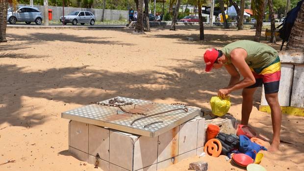 vôlei de praia, ricardo, roubo, bolas (Foto: Walter Paparazzo / Globoesporte.com/pb)