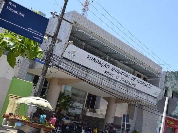 Fundação Municipal de Formação para o Trabalho (Fundat) em Aracaju (Foto: Ascom/Fundat)