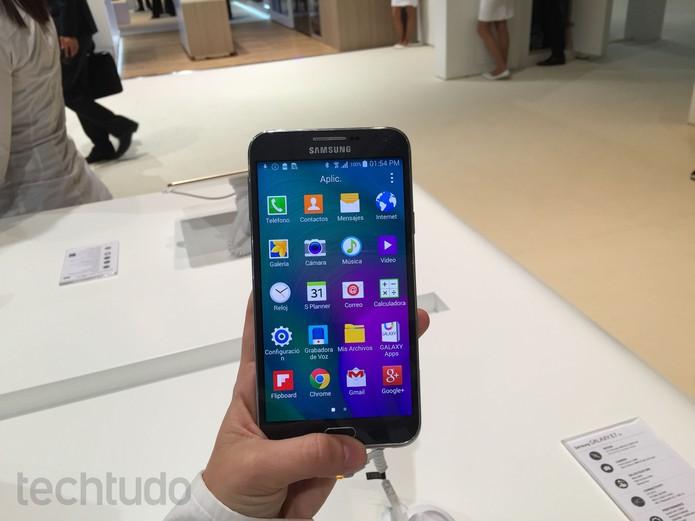 Galaxy E7 (Foto: Gabriella Fiszman/TechTudo)