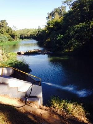 Rio Jaguari, em Limeira (Foto: Arquivo/Odebrecht)