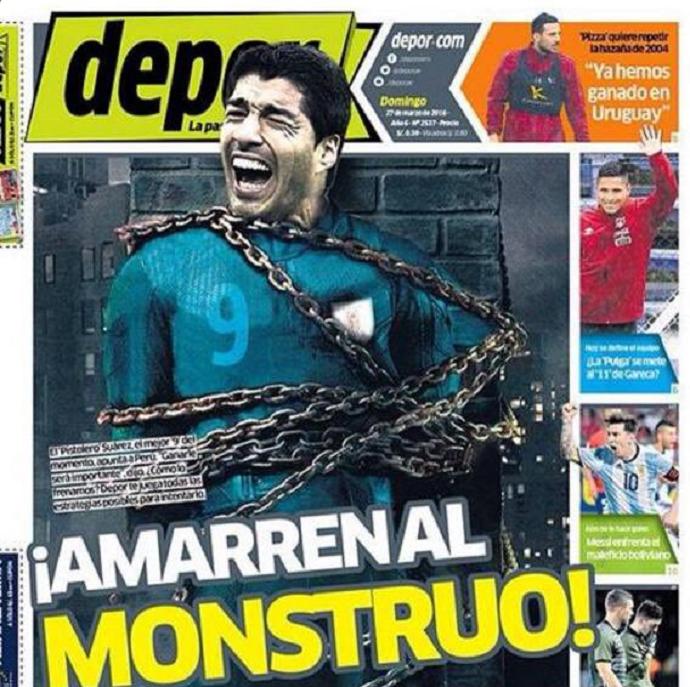 Luis Suárez capa jornal
