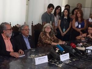 Pesquisadores da Fiocruz anunciam descoberta sobre zika vírus em coletiva nesta sexta-feira (Foto: Henrique Coelho/G1 RJ)
