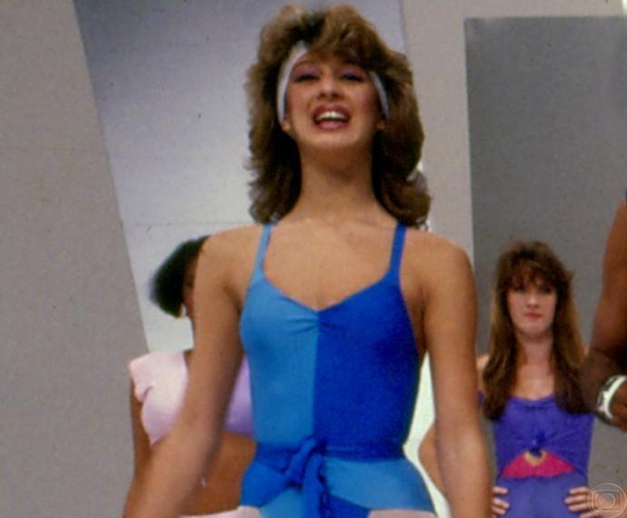 Claudia em Viva o Gordo, de 1981 (Foto: CEDOC/ TV Globo)