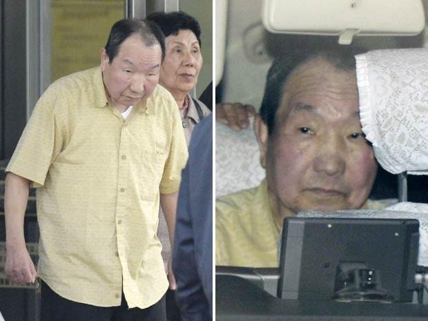 Iwao Hakamada deixa a Casa de Detenção em Tóquio após ser liberado devido às novas provas que reabriram seu julgamento (Foto: Reuters/Kyodo)
