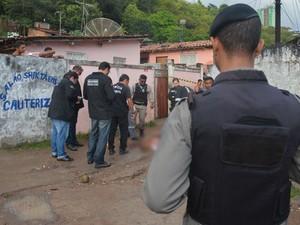 Vítima foi morta a tiros na madrugada de segunda, em João Pessoa (Foto: Walter Paparazzo/G1)