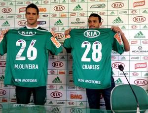 Marcelo Oliveira e Charles palmeiras apresentação (Foto: Felipe ZIto)