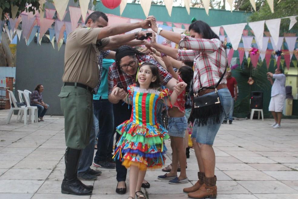 Festa comemorou os resultados do projeto de equoterapia (Foto: Samantha Araújo/ G1)