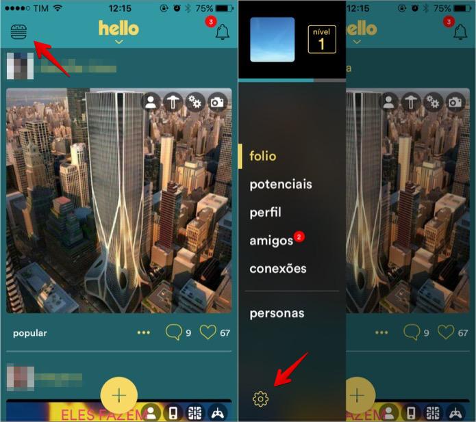 Acessando as configurações do aplicativo (Foto: Reprodução/Helito Bijora)