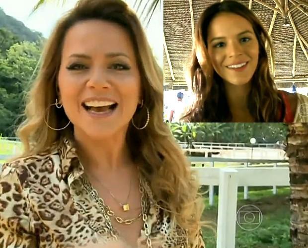 Bruna Marquezine elogia trabalho com Viviane Pasmanter (Foto: Vídeo Show/TV Globo)