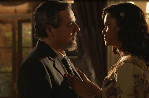 Eunice e Reinaldo em 'Tempo de amar' (Foto: TV Globo)