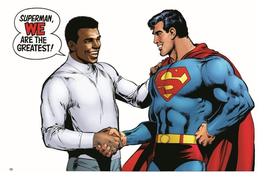 Cumprimento final entre duas lendas (Foto: Reprodução/DC Comics)