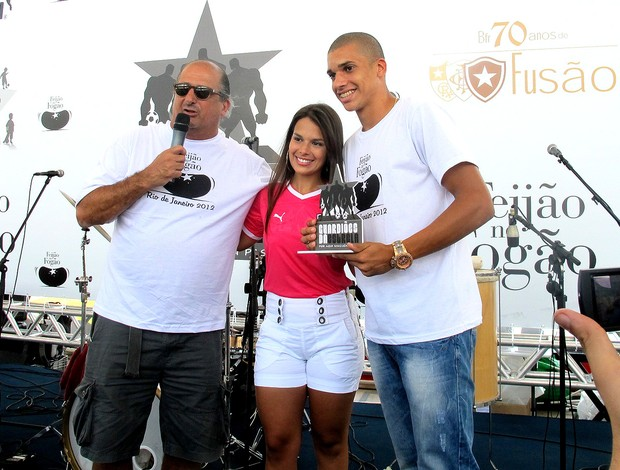Fernanda Maia e Dória em evento do Botafogo (Foto: Thales Soares / Globoesporte.com)