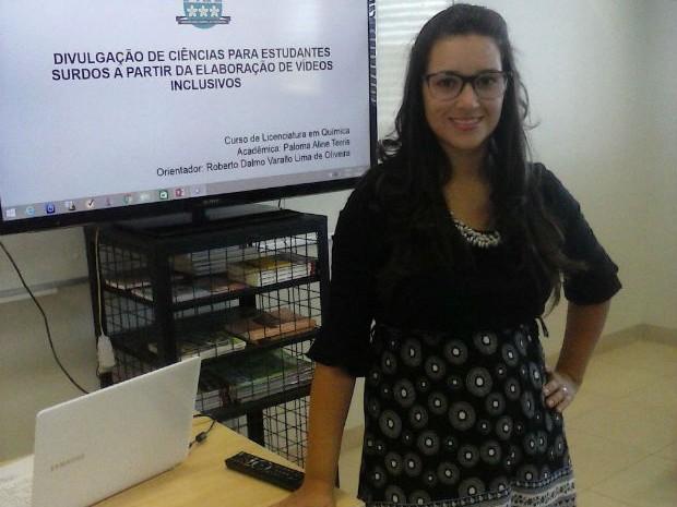 Projeto Libras Com (S) Ciência virou tema de TCC da estudante Paloma Terris (Foto: Paloma Terris/Arquivo Pessoal)