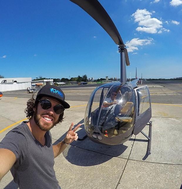 Diego Aguiar, piloto que foi visto de mãos dadas com Mayla Araújo (Foto: Reprodução/Instagram)