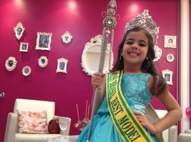 Alicia Ilea, mini miss de Goiânia, Goiás (Foto: Luísa Gomes/G1)