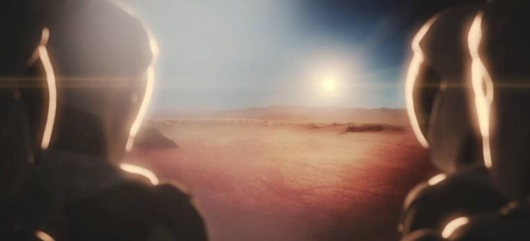 Animação mostra como seria a chegada dos viajantes a Marte (Foto: Reprodução/Youtube/SpaceX)