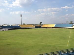 Estádio Nilton Santos, já no fim das obras do Jogos Mundiais dos Povos Indígenas (Foto: Vilma Nascimento/GloboEsporte.com)