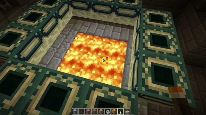 Para ativar o Portal do Fim coloque Olhos do FIm nos blocos ao redor dele (Foto: Planet Minecraft)