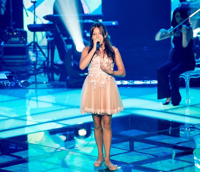 Laura Schadeck cantou em inglês e foi salva por Victor & Leo (Foto: Isabella Pinheiro / Gshow)