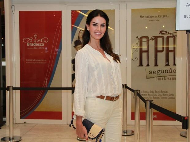Lisandra Souto em estreia de peça na Zona Oeste do Rio (Foto: Graça Paes/ Brazil News)
