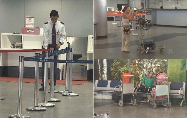 Passageiros enfrantam falta de vagas em voos partindo do Acre (Foto: Bom Dia Amazônia)