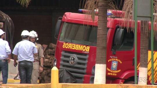 Incêndio atinge secador de grãos de cooperativa agrícola em Cambé