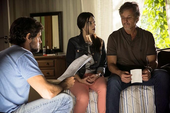 Giovanna Lancellotti, Milena em 'Sol Nascente', e Marcello Novaes, o Vittorio, são dirigidos por Leonardo Nogueira  (Foto: Raphael Dias / Gshow)