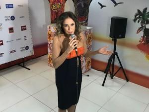 Daniela Mercury apresentou novidades para o carnaval de Salvador (Foto: Alex de Paula / G1)