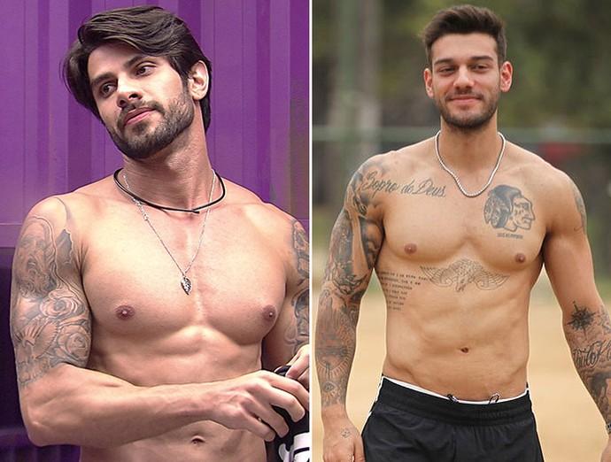 E aí, Renan e Lucas Lucco são parecidos? (Foto: TV Globo e Ellen Soares/Gshow)