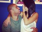 Adriano, o Imperador, brinca com a noiva: 'Perturbo mesmo'