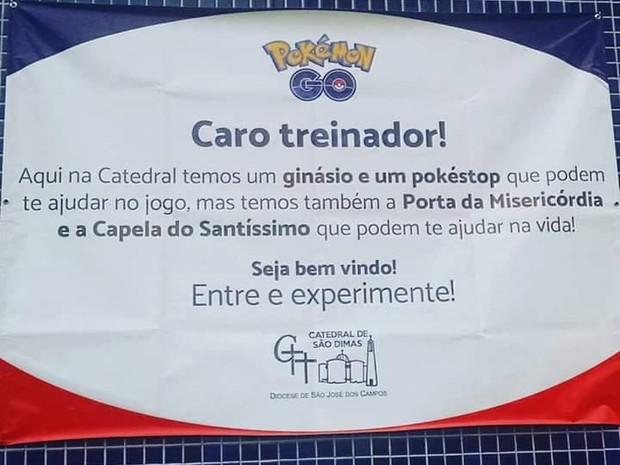 Igreja usa Pokémon Go para atrais adolescentes em São José (Foto: Divulgação/ Diocese de São José dos Campos)