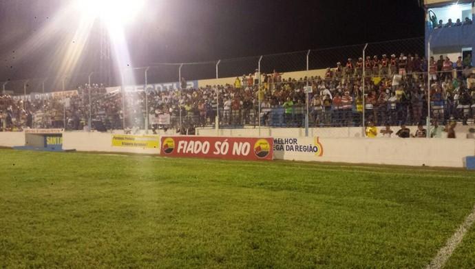 Santa cruz-PB x treze no teixeirão (Foto: Juliana Bandeira / GloboEsporte.com/pb)