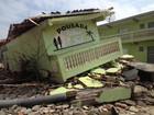 Ressaca destrói pousada e paisagem é modificada em SP: 'Estrago gigante'