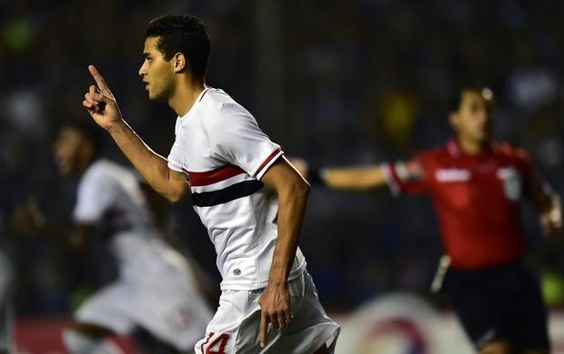 Alan Kardec gol São Paulo x Emelec (Foto: AFP)