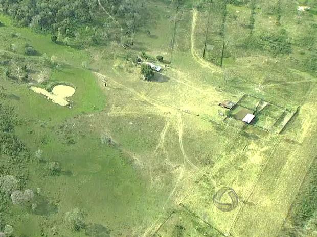 Índios continuam em fazenda próximo à Corumbá (Foto: Reprodução/TV Morena)