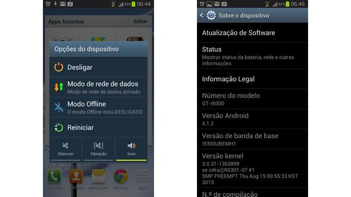 Reinicie o sistema de aparelhos congelados e lembre-se de atualizar a sua versão Android  (Foto: Reprodução/Daniel Ribeiro)