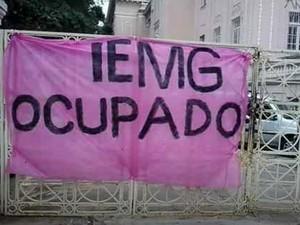 Estudantes do IEMG ocupam o prédio do colégio e reivindicam melhorias.  (Foto: João Maia/Arquivo pessoal )