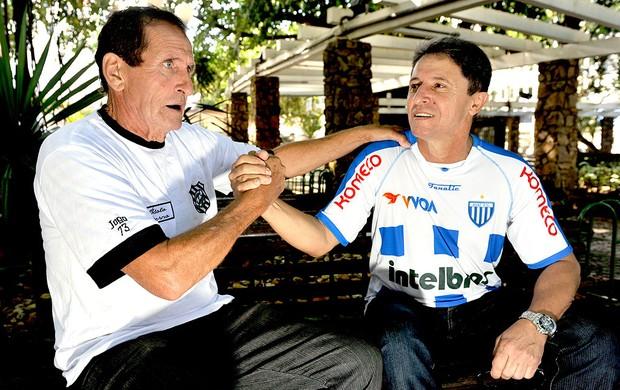 Orivaldo e Casagrande ex-jogadores Figueirense x Avaí (Foto: Caio Marcelo / RBS)