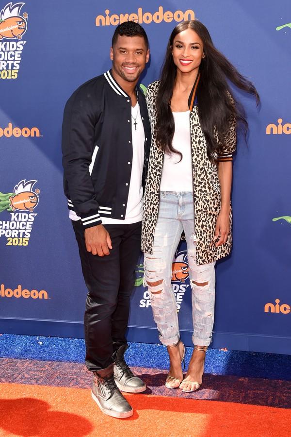 O jogador de futebol americano Russel Wilson e sua namorada, a cantora Ciara (Foto: Getty Images)