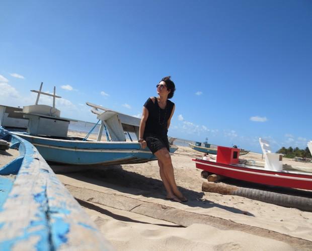Nadia Bochi se encantou com as praias de São Miguel dos Milagres (Foto: Arquivo Pessoal)