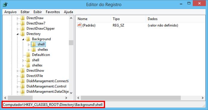 Editor de Registro do Windows (Foto: Reprodução/Helito Bijora)