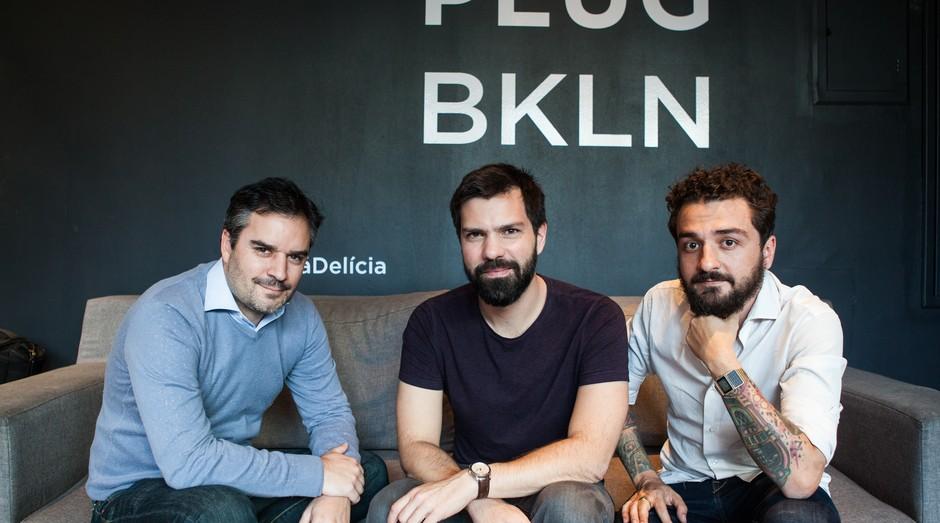 Mathieu Le Roux, Fernando Americano e Pedro Meyer, cofundadores da Le Wagon Brasil (Foto: Divulgação)